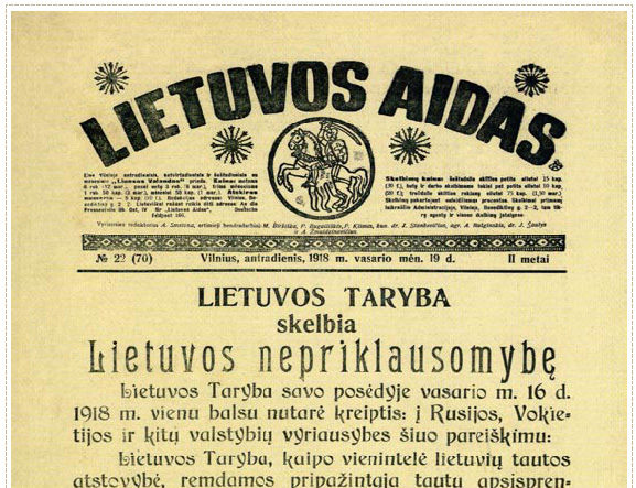 The Independence of Lithuania – The Act of Independence of 16 February 1918
