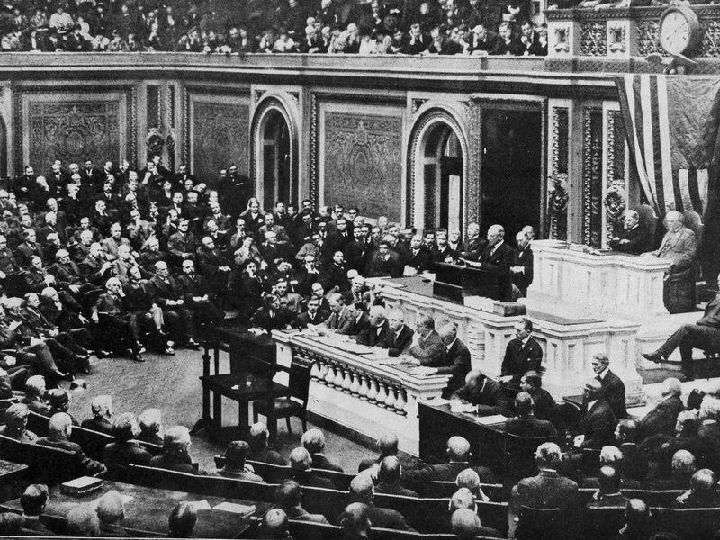 America joins the war: Wilson's speech to Congress and the Zimmermann telegram