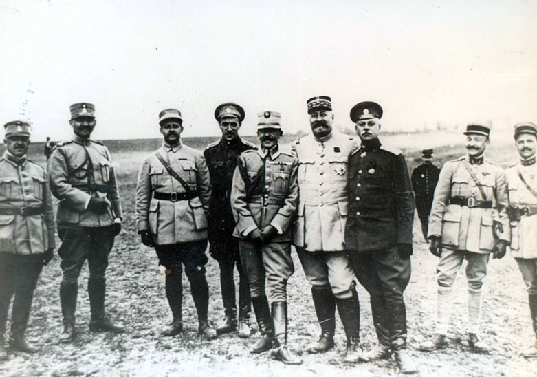 The Russians and French general Henri Mathias Berthelot