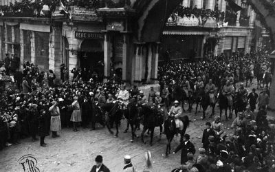 "December 1, 1918- The return home. Queen Marie: ""It is true that on this day- we have returned triumphant!"""