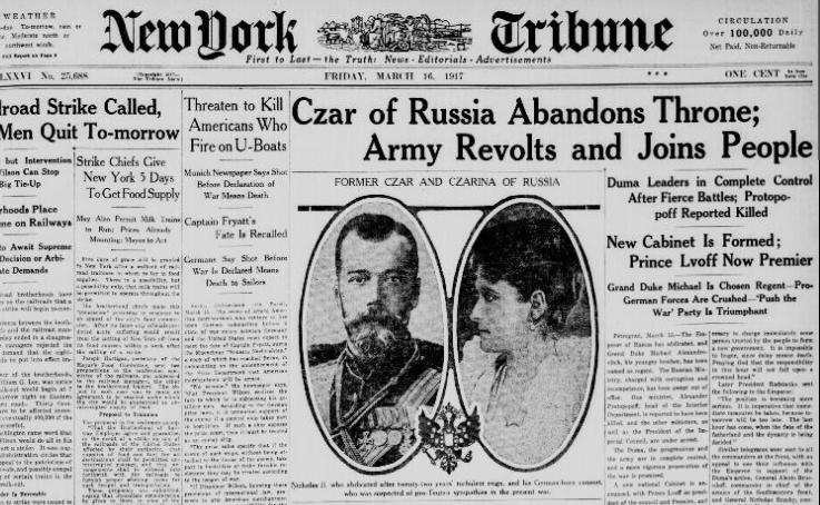 The Abdication of Nicholas II