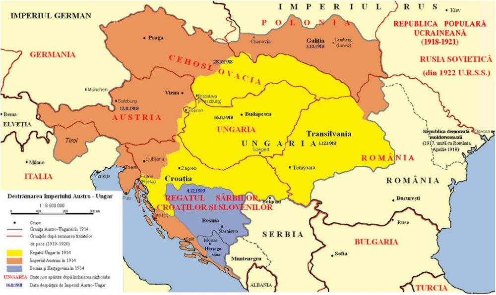 The autumn of 1918, a chronology of the collapse of the Austro-Hungarian Empire