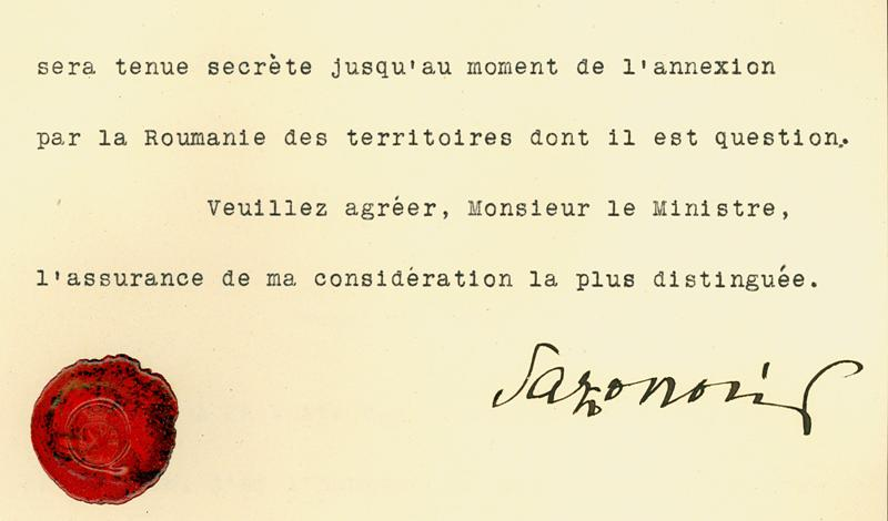 The Sazonov-Diamandy Agreement, the secret Russo-Romanian convention of 1914