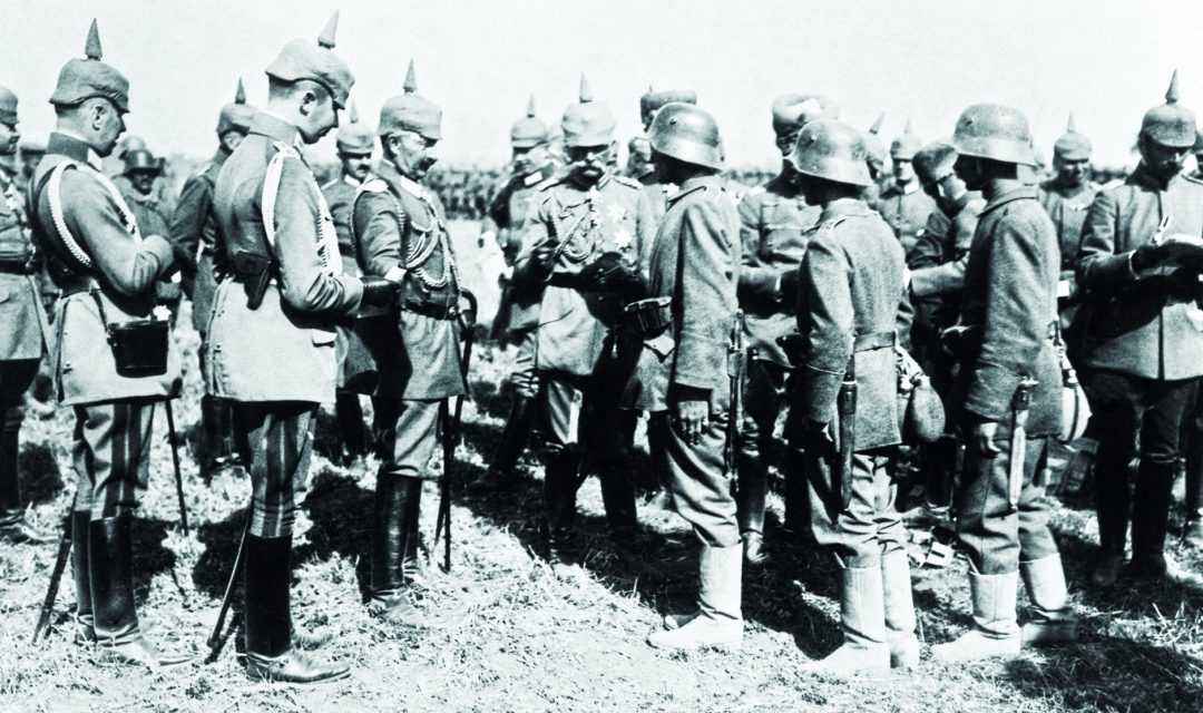 The meeting of Kaiser Wilhelm II of Germany and King Ferdinand of Bulgaria on the territory of Romania (September 21, 1917)