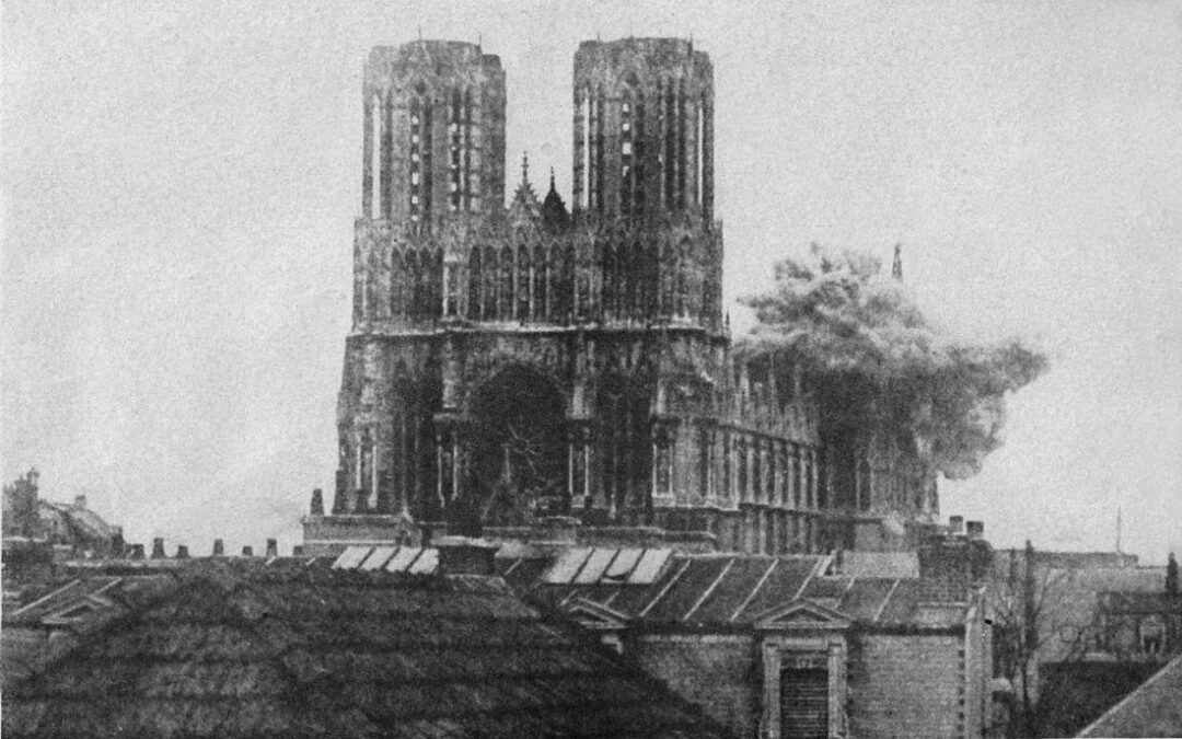 "The tragedy of  medieval cathedral of Notre-Dame de Reims, the ""rival"" of  Notre-Dame de Paris"