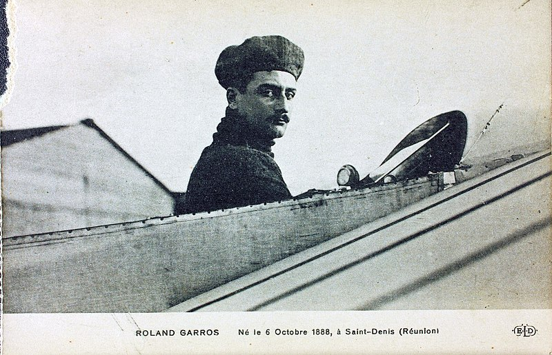 Roland Garros, the aviation hero of the First World War