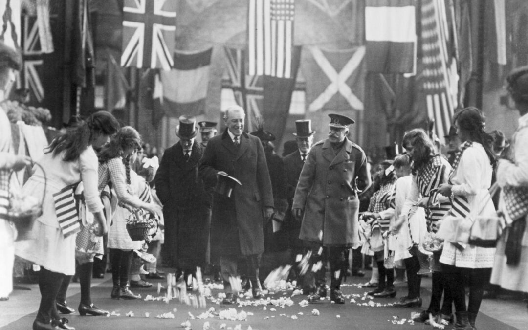 What did Woodrow Wilson thought about the Russian Bolsheviks at the end of the First World War